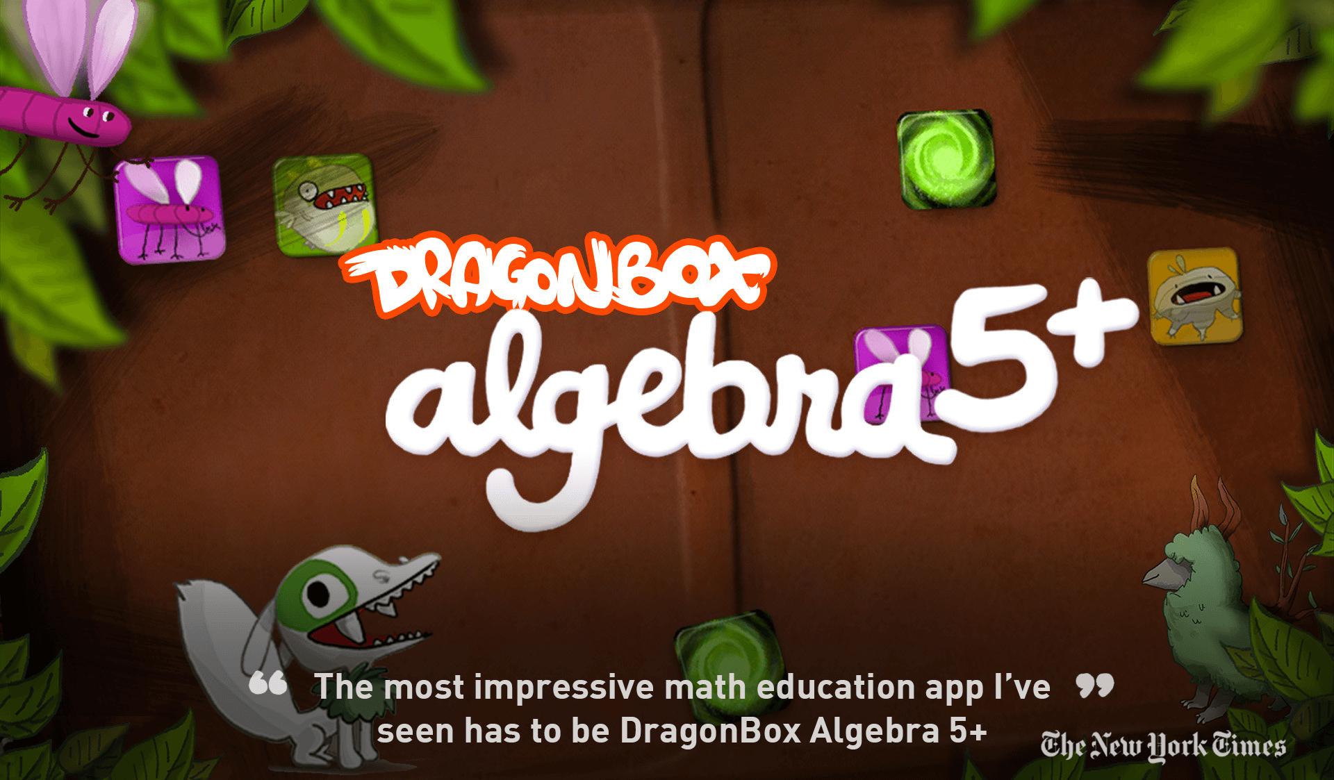 DragonBox Algebra 5+ - so easy a 5 y o  can do it!